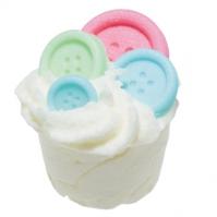 Bomb Cosmetics - Button Me Up - Kremowa, nawilżająca babeczka do kąpieli - GUZICZKOWO