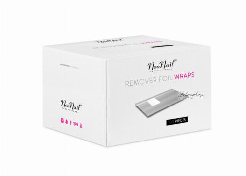 NeoNail - REMOVER FOIL WRAPS - Folie do usuwania żelu, akrylu i lakieru hybrydowego - 100 sztuk - 4458