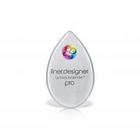Beautyblender - LINER.DESIGNER® BY BEAUTYBLENDER® - Szablon do kresek + etui/lusterko - SREBRNY