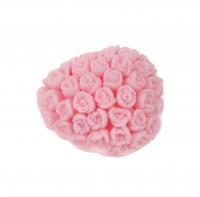 LaQ - Happy Soaps - Naturalne mydełko glicerynowe - RÓŻOWE SERCE W RÓŻYCZKI
