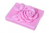 LaQ - Happy Soaps - Naturalne mydełko glicerynowe - RÓŻOWA RÓŻA W PROSTOKĄCIE