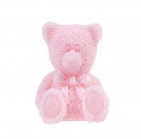 LaQ - Happy Soaps - Natural Glycerin Soap - SMALL PINK TEDDY BEAR