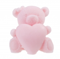 LaQ - Happy Soaps - Natural Glycerin Soap - PINK TEDDY BEAR