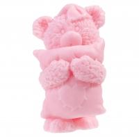 LaQ - Happy Soaps - Naturalne mydełko glicerynowe - RÓŻOWY MIŚ Z PODUSZKĄ