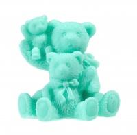 LaQ - Happy Soaps - Naturalne mydełko glicerynowe - ZIELONA RODZINKA - TRZY MISIE
