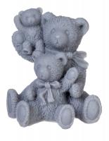 LaQ - Happy Soaps - Natural Glycerin Soap - GRAY FAMILY - THREE BEARS