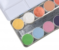 KRYOLAN - Aquacolor - Pallet 12 paints for body painting - Interferenz - FX A - ART. 1144