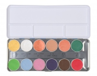 KRYOLAN - Aquacolor - Paleta 12 farb do malowania ciała - Interferenz - FX A - ART. 1144