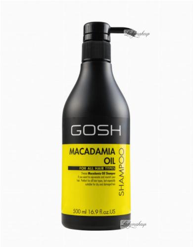 Gosh - MACADAMIA OIL SHAMPOO - FOR ALL HAIR TYPES - Głęboko rewitalizujący szampon do włosów z olejkiem makadamia