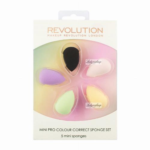 MAKEUP REVOLUTION - Mini Pro Colour Correct Sponge Set - 5 MINI SPONGES - 5 mini gąbek do makijażu