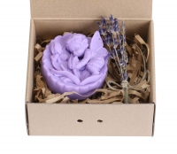 LaQ - Happy Soaps - Natural Glycerin Soap - LAVENDER ANGEL WITH ROSES