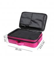 Różowa torba kosmetyczna - MAŁA - 16BCB033 - D