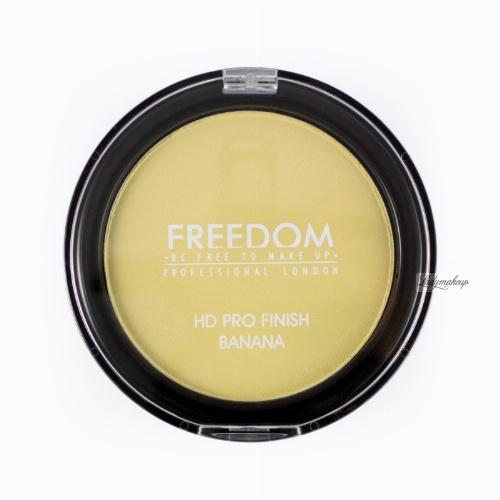 FREEDOM - HD PRO FINISH - BANANA - Puder prasowany - BANANOWY