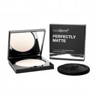 Swederm - PERFECTLY MATTE - Silky face powder - Jedwabisty, matujący puder do twarzy + puszek
