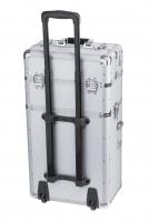 Srebrny kufer kosmetyczny - Silver Strip - TC009
