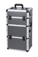 Gray MAKE-UP BOX - Gray Strip - TC009