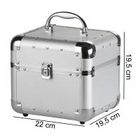 Mały srebrny kufer kosmetyczny - Silver - BB470