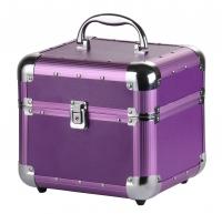 Mały fioletowy kufer kosmetyczny - Purple - BB470