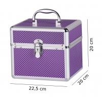 Mały fioletowy kufer kosmetyczny - Purple - BB475