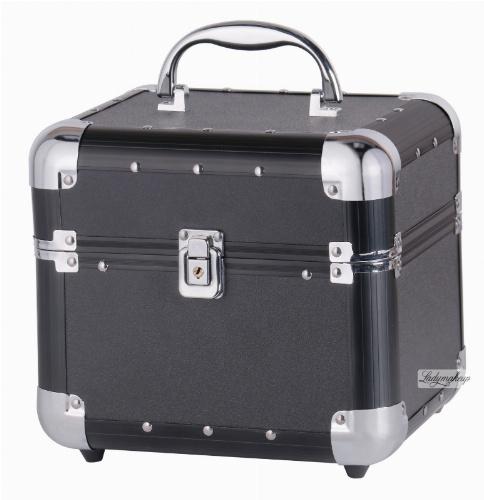 Mały czarny kufer kosmetyczny - Black - BB470