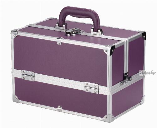 Fioletowy kufer kosmetyczny - Purple - NS01