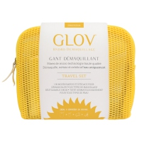 GLOV - HYDRO DEMAQUILLAGE - MAKEUP REMOVER - TRAVEL SET - Zestaw podróżny do demakijażu  - YELLOW