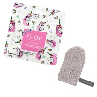 GLOV - QUICK TREAT Limited Unicorn Edition - Glam Grey - Mini rękawica do demakijażu - SZYKOWNA SZAROŚĆ