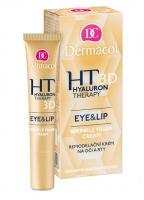 Dermacol - Hyaluron Therapy - Eye&Lip Wrinkle Filler Cream - Przeciwzmarszczkowy krem pod oczy i do okolic ust z kwasem hialuronowym