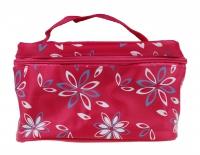 Inter-Vion - COSMETIC BAG - Różowa kosmetyczka/kuferek w kwiaty - 499335B