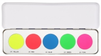 Kryolan - The palette of 5 shades of UV Art. 5196