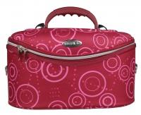 Inter-Vion - Duży kufer kosmetyczny - Bordowy we wzory - 413567 H
