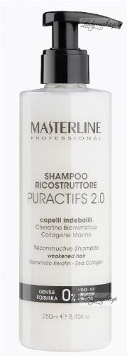 MASTERLINE - RECONSTRUCTIVE PURACTIFS 2.0 SHAMPOO - WEAKENED HAIR - Biomimetic Keratin - Sea Collagen - Rekonstruujący i regenerujący szampon do włosów delikatnych i osłabionych