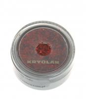 Kryolan - Gruby Brokat Do Ciała 25/90 - BRIGHT RED - BRIGHT RED