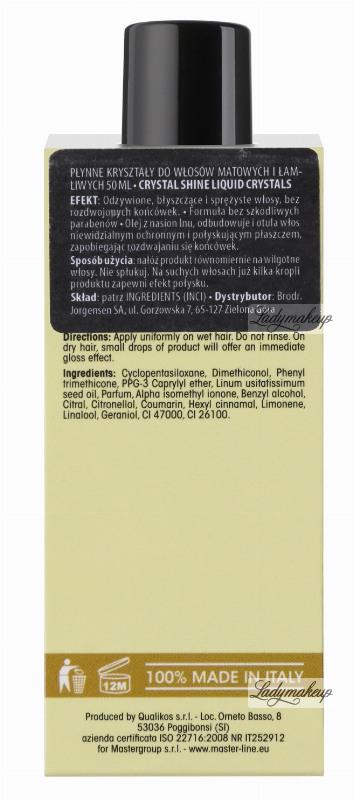 MASTERLINE - Liquid Crystals for matte and brittle hair