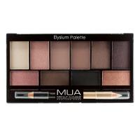 MUA - Eyeshadow Palette - Elysium Palette - Paleta 10 cieni do powiek + podwójna kredka do oczu