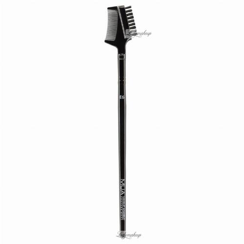 MUA - Eyebrow Brush With Comb - Szczoteczka i grzebyk do stylizacji brwi - E6