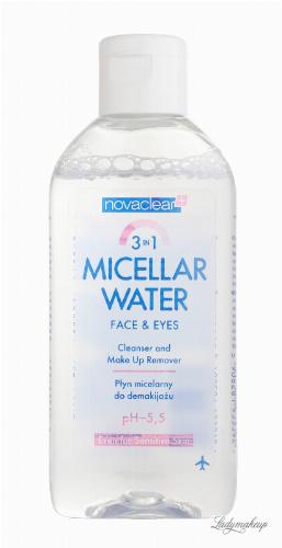 NovaClear - Micellar Water 3in1 - Płyn micelarny - 100 ml