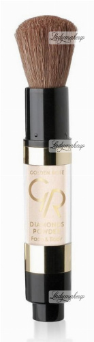 Golden Rose - Diamonds Powder - Face&Body - Diamentowy puder w pędzlu