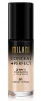 MILANI - CONCEAL + PERFECT - 2-IN-1 FOUNDATION+CONCEALER - Podkład kryjący do twarzy