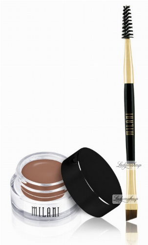 MILANI - Stay Put Brow Color - Pomada do brwi + dwustronny pędzelek