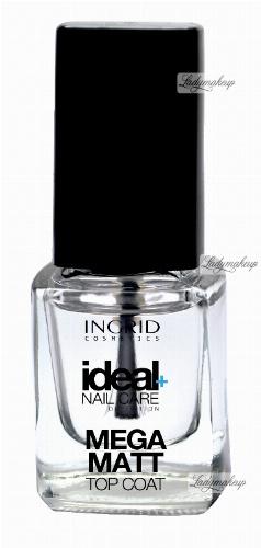 INGRID - Ideal Nail Care Definition - MEGA MATT TOP COAT - Nawierzchniowy preparat matujący