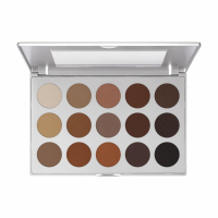 KRYOLAN - EYE SHADOW COMPACT - Paleta 15 cieni do oczu - ART. 5315 - SMOKEY BROWN / MATT - SMOKEY BROWN / MATT