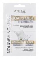 VOLLARÉ - NOURISHING MASK - GOAT'S MILK PROTEINS - FACE&NECK - Maska odżywcza z proteinami z koziego mleka do twarzy i szyi