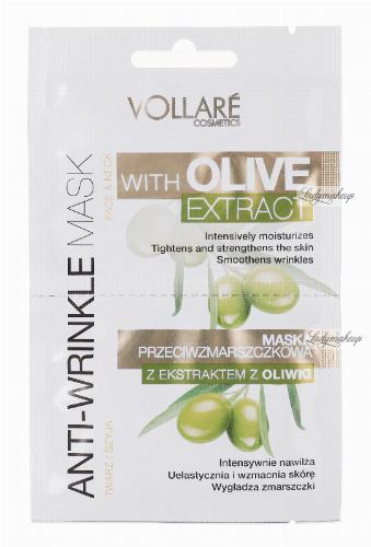 VOLLARÉ - ANTI-WRINKLE MASK - OLIVE EXTRACT - FACE&NECK - Maska przeciwzmarszczkowa z ekstraktem z oliwki do twarzy i szyi