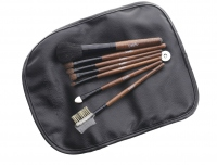Delfa - Set of 7 make-up brushes in a case