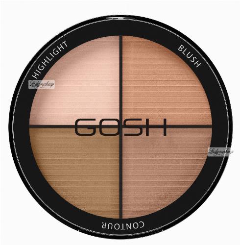 GOSH - CONTOUR'N STROBE KIT - Paleta do konturowania twarzy 4w1