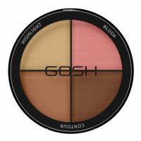 GOSH - CONTOUR'N STROBE KIT - Paleta do konturowania twarzy 4w1 - 002 - MEDIUM - 002 - MEDIUM