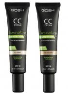 GOSH - CC CREAM - ILLUMINATING FOUNDATION - CC cream - highlighter, concealer and foundation