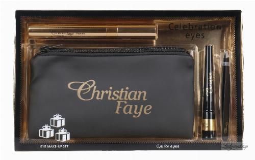 Christian - Celebration Eyes - Zestaw upominkowy - Tusz do rzęs, żel do brwi, pęseta i kosmetyczka