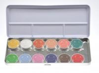 Kryolan - Aquacolor - Paleta 12 farb do malowania ciała - Interferenz - FX